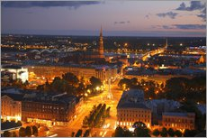 Wall Stickers  The night view of city of Riga - Bruce Yuanyue Bi