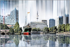 Wall sticker Hamburg Germany World Skyline