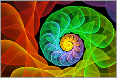Gallery print  Fractal 'The colors and the light' - gabiw Art