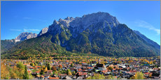 Wall sticker  Mittenwald with Karwendel mountain - FineArt Panorama