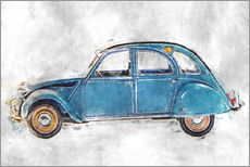 Wall sticker  Citroen  2 CV oldtimer - LoRo-Art