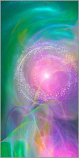 Gallery print  Spirit Love - I am open to the divine power - Dolphins DreamDesign
