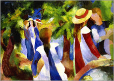 Gallery print  Girls under trees - August Macke
