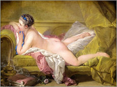 Wall sticker  Resting girl, Louise O'Murphy - François Boucher