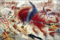 Gallery print  The city is growing. 1910 - Umberto Boccioni