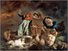 Gallery print  Dante and Virgil in hell (The Dante Bark) - Eugene Delacroix