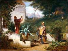Gallery Print  The childhood friends - Carl Spitzweg