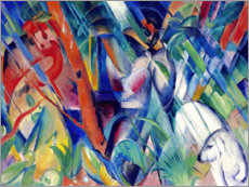 Canvas print  In the rain - Franz Marc