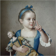 Wall sticker  Girl with doll - Jean Etienne Liotard