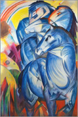 Foam board print  Tower of Blue Horses - Franz Marc