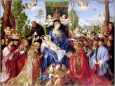 Acrylic print  The Feast of the Rosary - Albrecht Dürer
