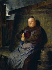 Wall Stickers  Brother master brewer of beer in the cellar. In 1902. - Eduard Grützner