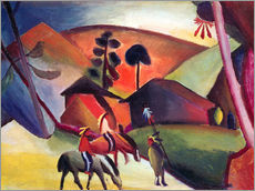 Wall Stickers  Indians on horseback - August Macke