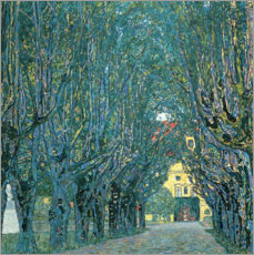 Acrylic print  Avenue in the park of Kammer Castle - Gustav Klimt