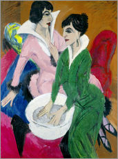 Wall sticker  Two women with washbasin, The sisters - Ernst Ludwig Kirchner