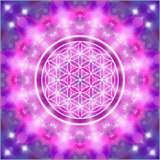 Wall sticker  Flower of Life - Love Essence - Dolphins DreamDesign