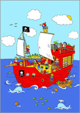 Wall Stickers pirate ship scene