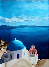 Wall sticker  Santorini - View from Oia - M. Bleichner