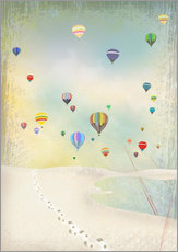 Wall sticker  Hot air balloon day - Elisandra Sevenstar