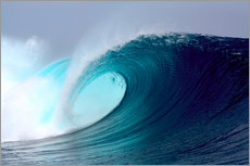 Gallery print  Tropical blue surfing wave - Paul Kennedy