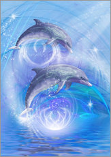 Wall sticker  Dolphins Joyride - Dolphins DreamDesign
