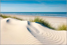 Wall Stickers  Langeoog seascape with dunes and fine beach grass - Reiner Würz RWFotoArt