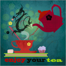 Wall sticker Enjoy your tea
