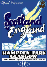Wall sticker  scotland vs england 1952 - Sporting Frames