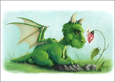 Gallery print  Dragon with a little fairy - Alexandra Knickel