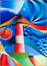 Wall sticker  north sea lighthouse hoernum - Gerhard Kraus