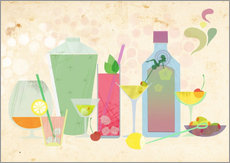 Wall sticker  Classic cocktails - Elisandra Sevenstar
