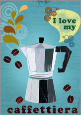 Wall sticker  I love my caffettiera - Elisandra Sevenstar