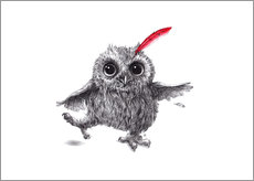 Wall sticker  Chief Red - Happy Owl - Stefan Kahlhammer