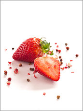 Gallery print  Strawberries with red peppercorns - Edith Albuschat