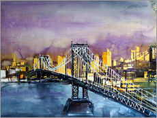 Wall sticker  New York, Manhattan Bridge - Johann Pickl