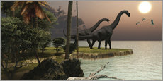 Wall sticker  Two Brachiosaurus dinosaurs - Corey Ford
