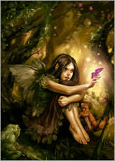 Gallery print  Elf with butterfly - Karsten Schreurs