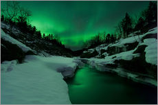 Wall sticker  Aurora Borealis over Tennevik River - Arild Heitmann