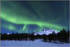 Wall sticker Aurora Borealis over Nova Mountain Wilderness, Norway.