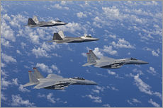 Gallery print  Two F-15 Eagles and F-22 - HIGH-G Productions