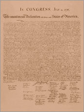 Gallery print  United States Declaration of Independence - John Parrot