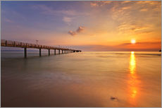 Wall sticker  Sunrise Binz pier - Marcus Klepper