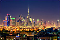 Wall sticker  Dubai skyline at night - Stefan Becker