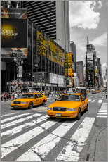 Wall sticker  Yellow cabs on Time Square 2 - Hannes Cmarits