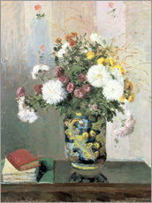 Wall sticker  Bouquet of Flowers, Chrysanthemums in a Chinese Vase - Camille Pissarro