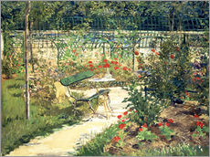 Wall sticker  The Bench in the Garden of Versailles - Edouard Manet
