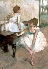Gallery print  Two dancers resting - Edgar Degas