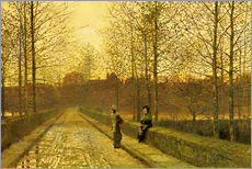 Gallery print  In the Golden Gloaming, 1883 - John Atkinson Grimshaw