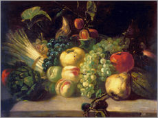 Gallery print  Still life with fruits and vegetables - Theodore Gericault