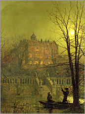 Wall sticker  Under the Moonbeams, 1882 - John Atkinson Grimshaw